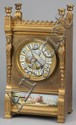 19th c. Neoclassical-style dore' bronze clock
