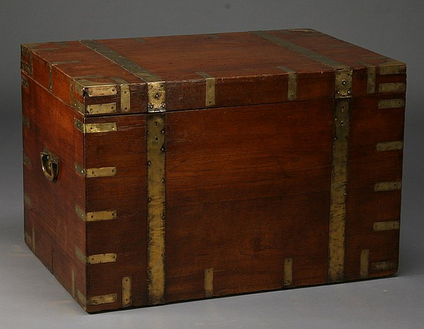 19th c. British campaign trunk
