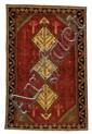 Semi-antique hand knotted wool Sirjan rug