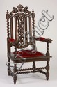 19th c. French carved oak armchair