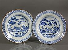 Paar tiefe Teller (China, 18.Jh.)