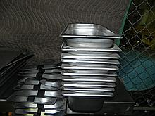 Stainless Steel Warming Pans Drop Line w/Lids 10ct