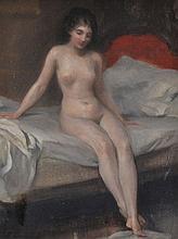 Fréderic Dufaux (1852-1943)    Nu assis, h
