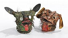Suite de deux masques mexicains    Pneus p