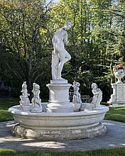 Fontaine ornée au centre de la  Vénus della Grotic