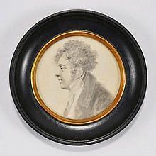 Louis Arlaud-Jurine (1751-1829), Jeune homme de profil, mine de plomb sur p
