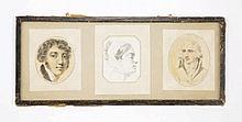 Louis Arlaud-Jurine (1751-1829), Portraits, collection de 3 lavis sur papie