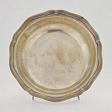 Jatte ronde festonnée, Jean-François Veyrat, Paris circa 1840, argent,  dia