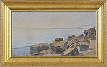 Charles Parisod (1891-1943)  Vapeur sur le Léman  huile sur toile signée et