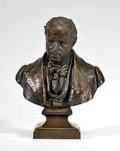 Charles Töpffer (1832-1905) Buste de Rodolphe Töpffer (1799-1846) bronze pa