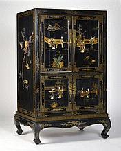 Cabinet à 4 vantaux  Chine, XXe s.  bois laqué polychrome  149x
