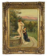 Albert Lynch (1851-1912)  Divine surprise  huile sur toile signée