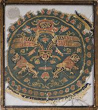 Médaillon  Egypte, époque Copte, VIe-VIIe s. après J.C.  décor de l