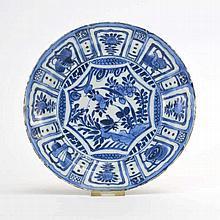Assiette  Chine, époque Chongzhen (1627-1644)  porcelaine dite kraa