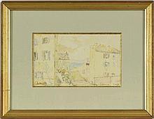 Jules-Arthur Joëts (1884-1959)  St Tropez 17 février 39  aquarelle sur papi