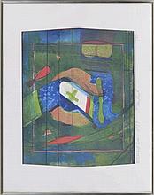 Willibrord Haas (1936)  Abstraction  lithographie couleur, signée à la mine