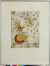 Roberto Matta (1911-2002)  Sans titre  Estampe 34/100, 1956 66x50 cm