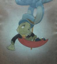 WALT DISNEY, Pinocchio Production Cel Jiminy Cricket
