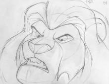 Walt Disney, The Lion King Production Drawing Mufasa