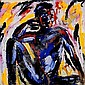 Salom? 1954 D Peter the Model, 1982 Oil on canvas H 2000 mm W 2000 mm Signed, dated and  titled. Provenance: Galerie Bruno Bischofberger, Zurich Swiss private collection. EUR  E6000-10000.-