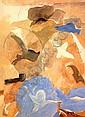 Braque Georges 1882 - 1963 F Derrier le miroir. Braque, Derniers messages With 1 original lithograph printed in colors. In the colophon: 38/150. Paris, Maeght Editeur, 1967. Folio. In cardboard slip case. With it: - Derriere le miroir. G. Braque No.