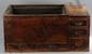 Ibatchi quadrangulaire à cinq tiroirs. Bois de inoki et cuve de cuivre pour contenir les braises. Japon. Période Edo. 19 ème siècle.  Ht 34cm x L78cm x 45cm.