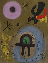 JOAN MIRÓ Hand Signed and Numbered Etching Surrealism Spanish 1951