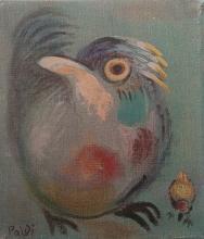 ISRAEL PALDI Hand Signed Print Bird Israeli Art