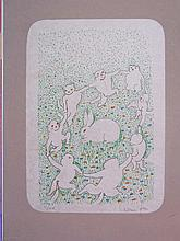 LEONOR FINI H.Sig.Lithograph Cat 1973