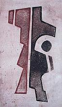 JEAN SIGNOVERT Etching French Abstract
