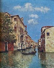 ALBERT DUPRAT Signed Oil Painting French Italian Post Impressionism Venice 1904
