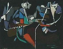 ANDRE LANSKOY Signed Gouache Abstract Russian Art