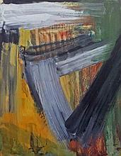 MICHAEL ARGOV Signed Gouache Israeli Abstract Art 1963