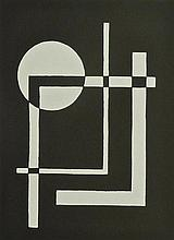 CESAR DOMELA Hand Signed Silkscreen De Stijl Mondrian Abstract