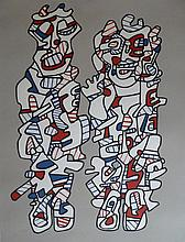 JEAN DUBUFFET Hand Signed Silkscreen French Pop Art 1974