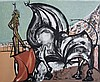 OSCAR DOMINGUEZ Lithograph Spain Surrealism Bull Fighting