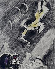 MARC CHAGALL Hand Colored Etching Fable Fontaine