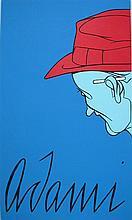 VALERIO ADAMI Hand Signed Silkscreen Italian POP Art