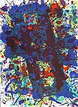 SAM FRANCIS Hand Signed Lithograph American Abstract Expressionism Art