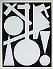 AUGUSTE HERBIN S.Silkscreen Abstract Art, Auguste Herbin, $300