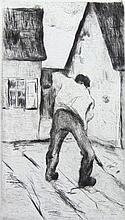 LESSER URY Hand Signed Etching German Impressionism 1920