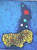 MORDECHI ARDON Abstract Litho Israeli, Mordecai Ardon, $250