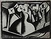 BELA KADAR Original Signed Drawing Cubism Hungarian Art 1920, Béla Kádár, $3,000