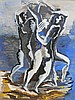 OSSIP ZADKINE Hand signed guache 1951 Russian French