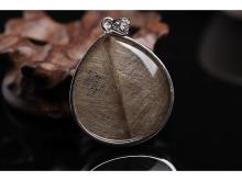 Natural hair crystal leaf pendants pure devil