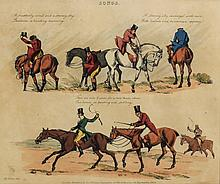 Alken, Henry Hand Colored Etching Popular Songs 1822