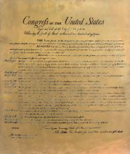 1789 US Bill of Rights Etched Copper Plate c1950