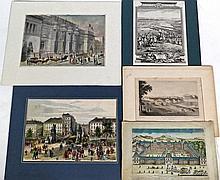 (France) - [Estampes].- 60 vues, planches d'histoire, cartes géographiques