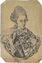 (École allemande ?) - Portrait de Frédéric II de Prusse. Eau-forte, papier