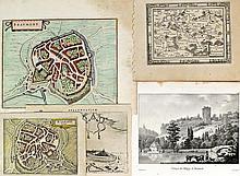 (Hainaut) - Beaumont : 5 cartes, 10 plans et 6 vues. Techniques variées, fo